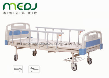 Cina ABS Board Manual Hospital Bed, MJSD05-01 2 Engkol Medis Bed Adjustable pemasok